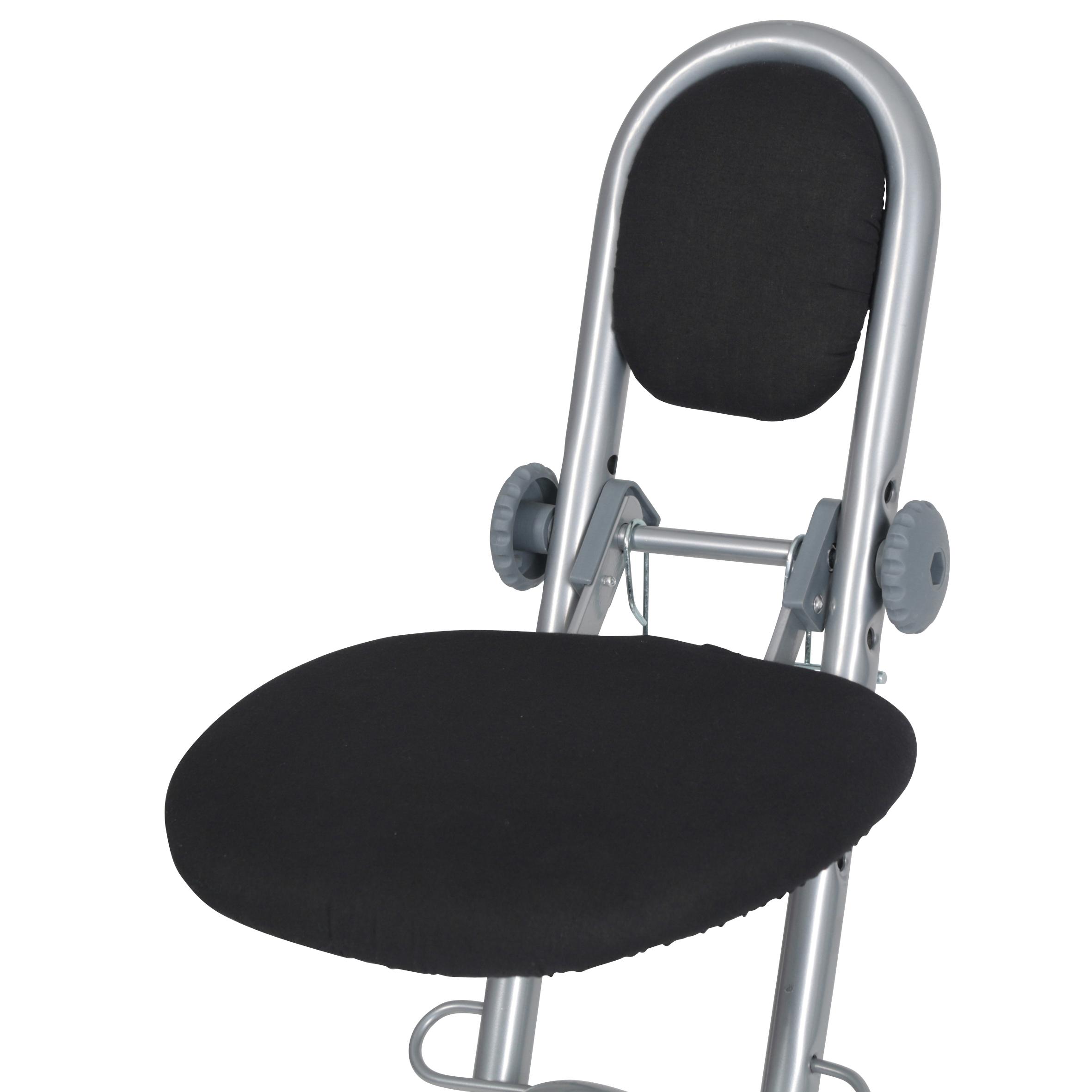 Folding Ironing Perching Stool Chair Adjustable Height