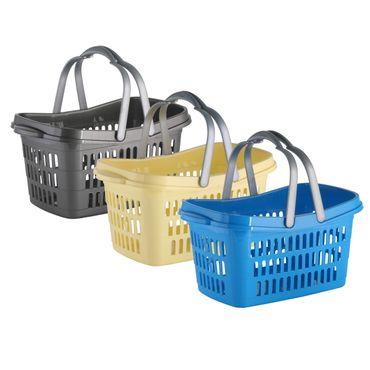 Einkaufskorb Kunststoff versch Farben Korb Lebensmittelkauf Einkaufen Henkelkorb – Bild 1