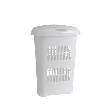 Wäschebox Kunststoff 50 Liter weiß