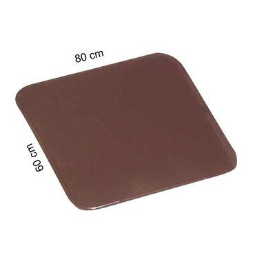 Ofenblech Bodenblech Kaminblech pulverbeschichtet braun 60 x 80 cm