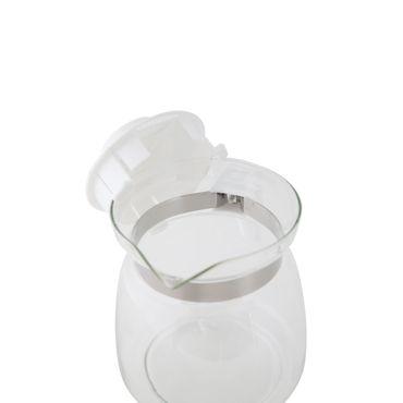 Glaskanne ca.1,2L, m. PP-Deckel+Griff Wasserkrug Glaskrug Krug Karaffe Saftkrug – Bild 2