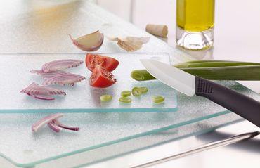 Schneidbrett Glas 52 x 30 cm Brett Küchenbrett Schneidebrett Frühstücksbrett – Bild 2