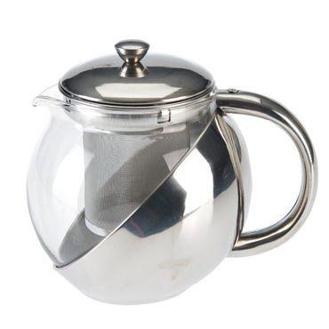 Teekanne 1,2L Glas mit Teesiebeinsatz Edelstahleinsatz Kaffeekanne Kanne Tee