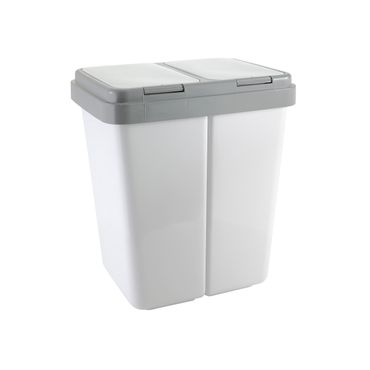 Müllbehälter 2 x 25 Liter grau/granit