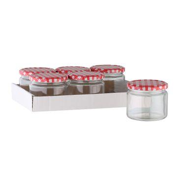 Einmachgläser ca. 330 ml 6 Stück im Tray