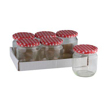 Einmachgläser ca. 425ml 6 Stück im Tray Einmachglas Einkochen Marmeladenglas Glas