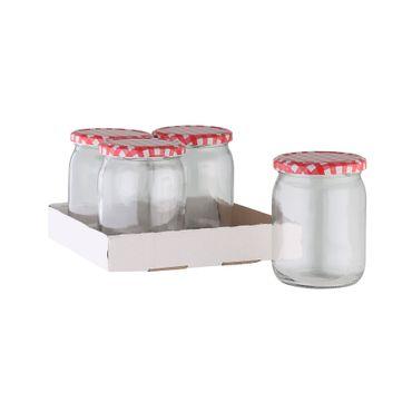 Einmachgläser ca. 540 ml 4 Stück im Tray