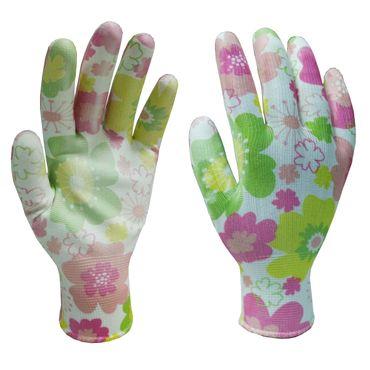 Gartenhandschuh Arbeitshandschuh Handschuhe Flower Polyester Gr. 7