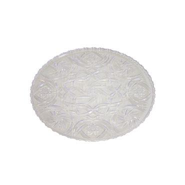 Kuchenplatte Kristalloptik Ø 24 cm Tortenplatte Tortenständer Servierplatte Buffet