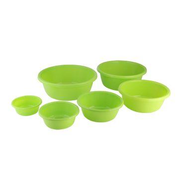 Kunststoffschüssel Set, rund, 6-teilig