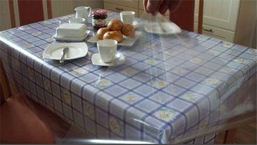 Tischdecke Glasklarfolie 0,1mm Ø 140cm transparent Tischschutz Tischfolie