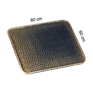 Bodenblech altmessing 50x60cm Ofenblech Ofenschutzblech Bodenplatte Funkenschutz