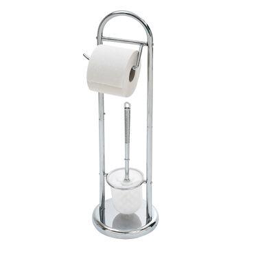 WC-Garnitur, Bürstengarnitur Klobürste Toilettenbürste mit Papierrollenhalter