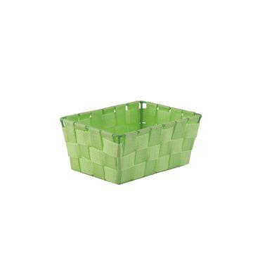 Aufbewahrungskorb Aufbewahrungskörbchen Eisenramen gewebt grün Polypropylen