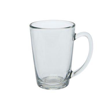 Teeglas 325 ml mit Henkel klar