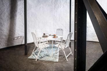 "Tisch weiß 90x90x74cm ""Gjøvik"" – Bild 3"