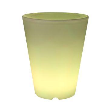 Leuchttopf LED mit Fernbedienung Gartendeko Übertopf Farben wechselbar Ø 30,2cm