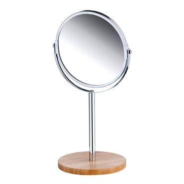 Tischspiegel, 17cm rund Bambusfuß