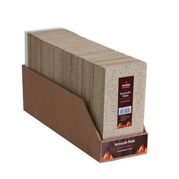 Vermiculit Platte 250x124x20mm Schamotte Ersatz Hitzeschutz Ofenstein