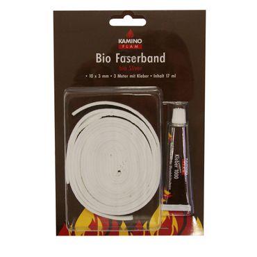 Bio Faserband 10x3mm 3m mit 20 g Kleber
