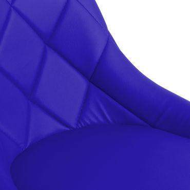 Barhocker aus Kunstleder, 2er Set, grau, schwarz/weiß, blau, rot/weiß – Bild 15