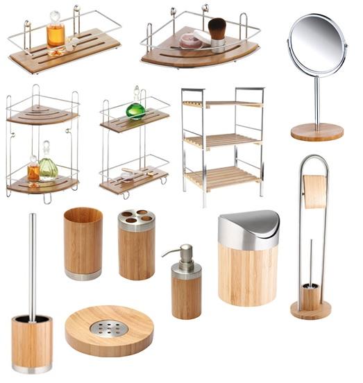 accessoires bambus badzubeh r kosmetikeimer wandregal wc. Black Bedroom Furniture Sets. Home Design Ideas