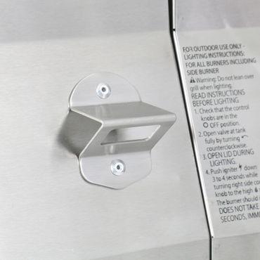6 Gasgrill Gasbrenner Grill mit Seitenbrenner – Bild 11