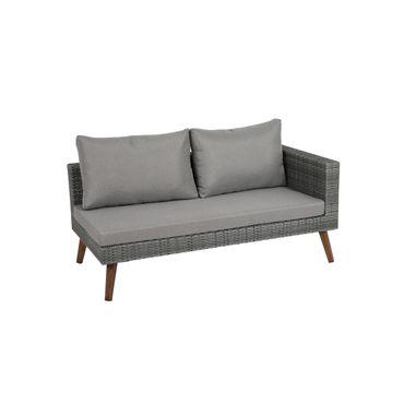 Aluminium Rattan Lounge Set Sitzgruppe Sitzgarnitur Sofa Tisch Möbel 4 teilig – Bild 2