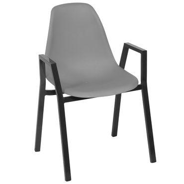 Aluminiumstuhl mit Kunststoffsitzschale – Bild 1