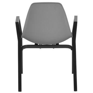 Aluminiumstuhl mit Kunststoffsitzschale – Bild 6