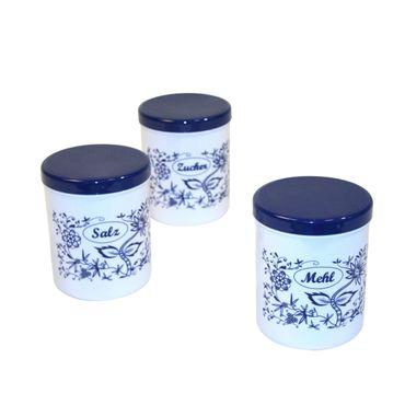 Dekordosen-Set 1,1 Liter Zwiebeldekor 3 Stück