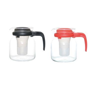 Teekanne Tee Kanne Kaffeekanne Getränkekanne mit Sieb 1,2 Liter Glas + PP