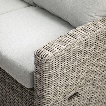 Lounge Set grau Sitzgruppe Sitzgarnitur Gartenmöbel Loungemöbel Gartenlounge  – Bild 4