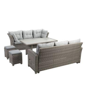 Lounge Set grau Sitzgruppe Sitzgarnitur Gartenmöbel Loungemöbel Gartenlounge  – Bild 19