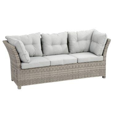 Lounge Set grau Sitzgruppe Sitzgarnitur Gartenmöbel Loungemöbel Gartenlounge  – Bild 20