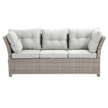 Lounge Set grau Sitzgruppe Sitzgarnitur Gartenmöbel Loungemöbel Gartenlounge  – Bild 21