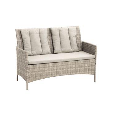 Lounge Set grau Sitzgruppe Sitzgarnitur Gartenmöbel Loungemöbel Gartenlounge  – Bild 6