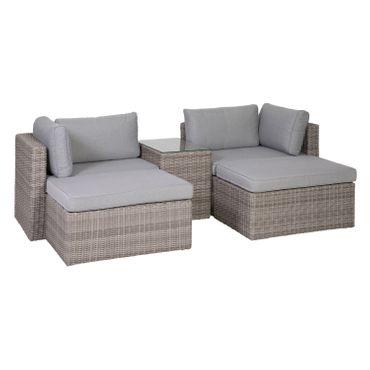 Lounge Set grau Sitzgruppe Sitzgarnitur Gartenmöbel Loungemöbel Gartenlounge  – Bild 1