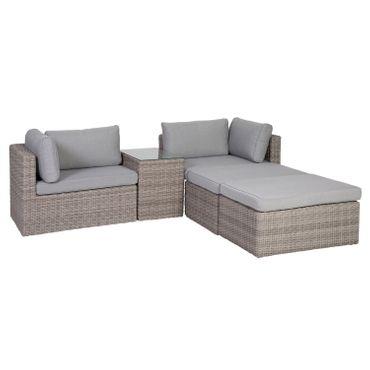 Lounge Set grau Sitzgruppe Sitzgarnitur Gartenmöbel Loungemöbel Gartenlounge  – Bild 12
