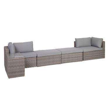 Lounge Set grau Sitzgruppe Sitzgarnitur Gartenmöbel Loungemöbel Gartenlounge  – Bild 13