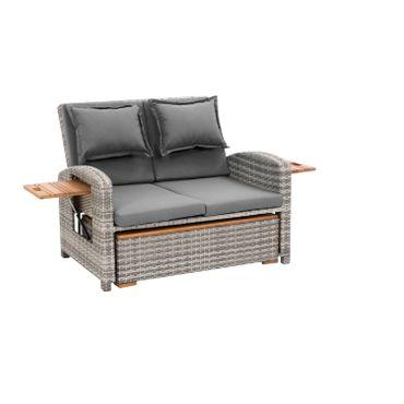 Gartensofa Loungesofa Loungemöbel Gartenlounge Polyrattan-Lounge Outdoormöbel – Bild 22