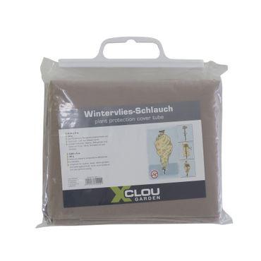 Wintervlies-Schlauch 0,8x5m braun Pflanzenschutz Winterschutz Frostschutzvlies – Bild 2