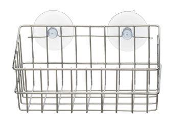 Wandregal mit 2 Saugnäpfen verchromt ohne Bohren Duschkorb Duschablage Badregal – Bild 1