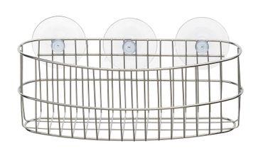 Wandregal, verchromt oval, 3 Saugnäpfe – Bild 1