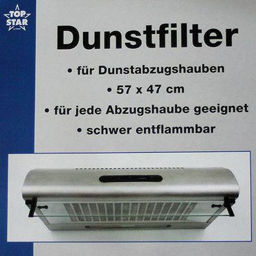 Dunstfilter für Dunstabzüge 57 x 47 cm Dunstabzugshaube Dunstabzug Filter Ersatzfilter