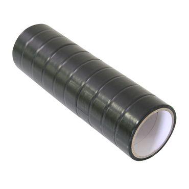 10Stk Klebebandrollen schwarz 15mm 3m Paketband Kleber Klebeband Packband Rollen