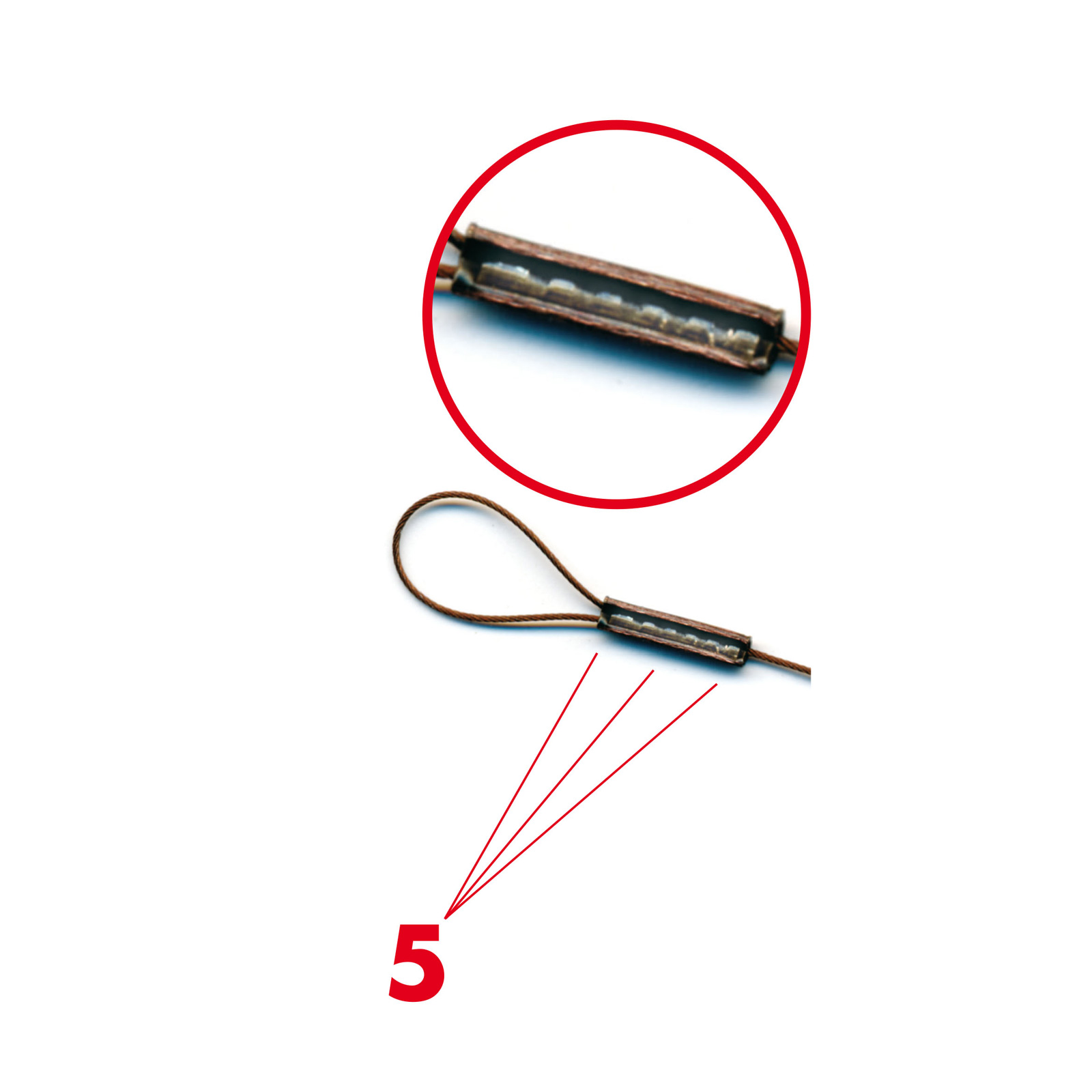 Klemmhülsenzange für Stahlvorfach flexonit Quetschhülsenzange professional
