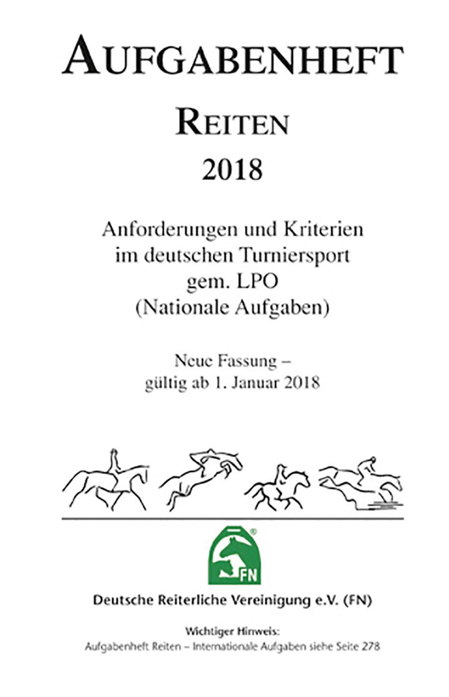 Busse Aufgabenheft 2018 - Reiten - Inhalt (Nat. Aufg.)