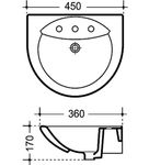 Handwaschbecken Clean Novella 45x36 cm, Weiss 001