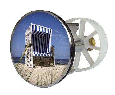 Excenterstopfen Metall 38 mm, Design Strandkorb
